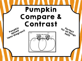 Pumpkin Compare and Contrast
