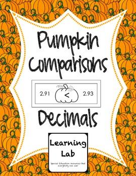Pumpkin Comparisons - Decimals