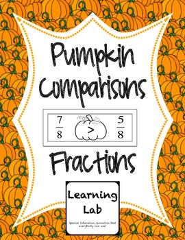 Pumpkin Comparisons - Fractions