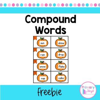 Pumpkin Compound Words Freebie