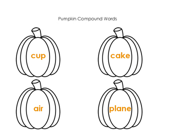 Pumpkin Compound Words Center