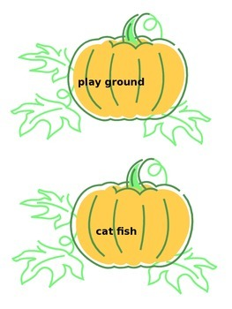 Pumpkin Compound Words Game