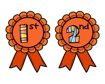 Pumpkin Contest Award Ribbons