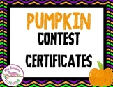Pumpkin Contest Certificates