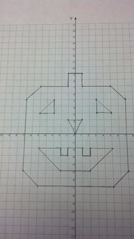 Pumpkin Coordinate Grid Graphing Activity