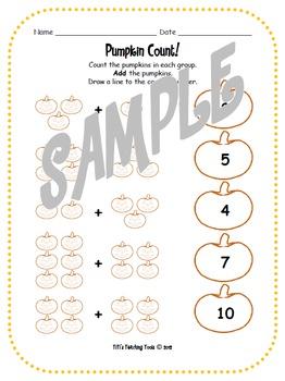 Pumpkin Count Math Worksheet
