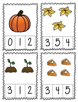Pumpkin Count and Clip 1-10
