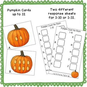 Pumpkin Count-the-Room (1-12)