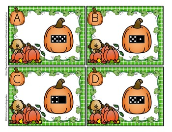 Pumpkin Count the Room Numerals to 20