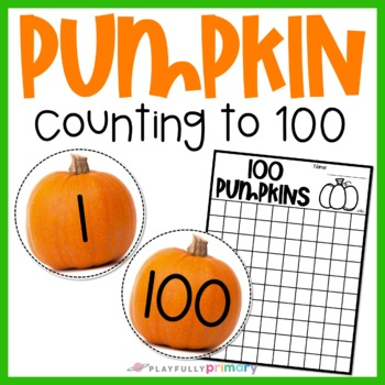 Pumpkin Counting Cards   1 - 100