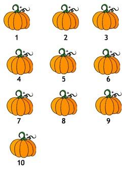 Pumpkin Counting 1 thru 10