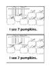 Pumpkin Counting Emergent Reader book for Preschool or Kindergarten