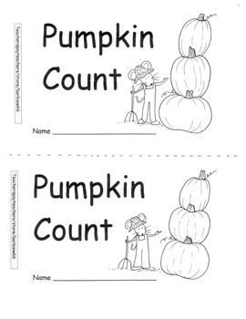 Pumpkin Book Printable with Home Connection Counting Book
