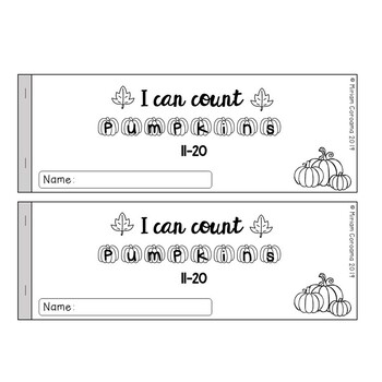 Pumpkin Counting Booklet (11-20)