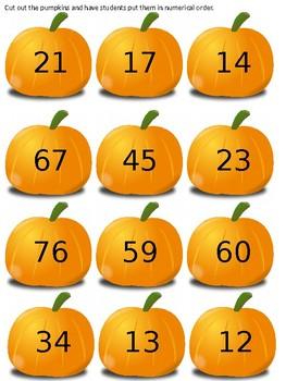 Pumpkin Counting - Editable
