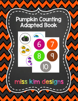 Pumpkin Counting File Folder Game for students with Autism