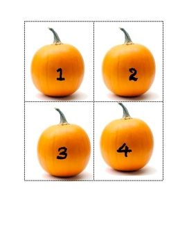 Pumpkin Counting Flashcards