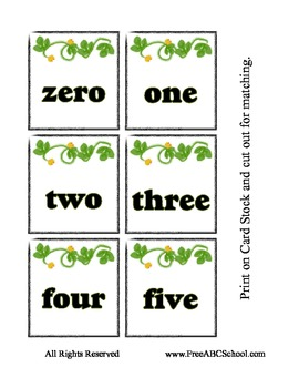 Pumpkin Counting Matching Cards - Free for Halloween Preschool Printable