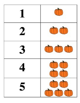 Pumpkin Counting Matching Game