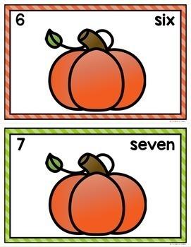 Pumpkin Counting Mats 0-20
