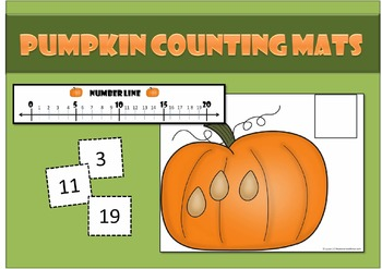 Pumpkin Counting Mats