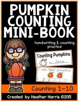 Pumpkin Counting Mini-Book **FREEBIE**