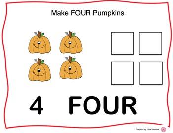 Pumpkin Counting Playdoh Mats (Halloween Play-dough)