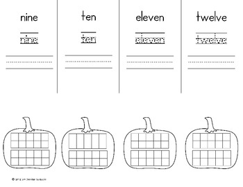 Pumpkin Counting and Cardinality Flip Books