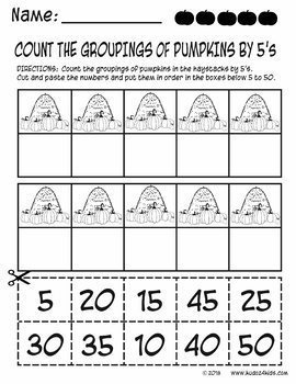 Pumpkin Counting by 5's