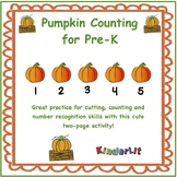 Pumpkin Math -  Counting Sets in PreK