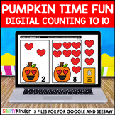 Pumpkin Counting to 10 for Google Classroom and Seesaw