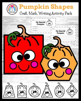 Shape Pumpkin Craft and Writing Activity
