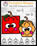 Shape Pumpkin Craft and Writing Activity for K (Jack-o-Lantern, Halloween, Fall)