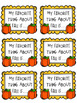 Pumpkin Craft with Writing Prompt: Fall Crafts