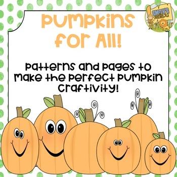 Pumpkin Craftivity - Easy Writing Activity - So cute for O