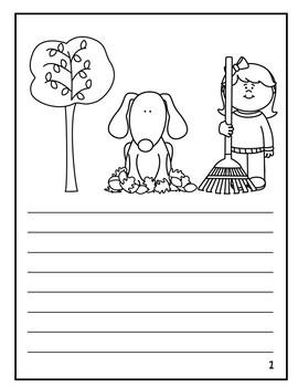 Pumpkin Creative Writing Story Book Template