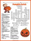 Pumpkin Crossword Puzzle - 4 Versions