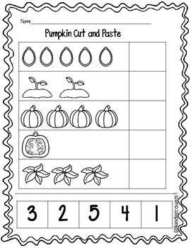 Pumpkin Cut and Paste 1-5 FREEBIE
