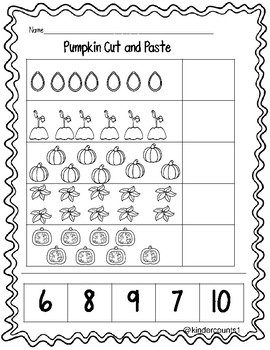 Pumpkin Cut and Paste 6-10 FREEBIE