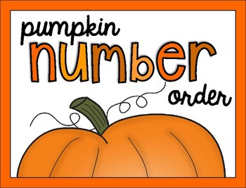 Pumpkin Cut and Paste Numbers 11-20