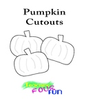 Pumpkin Cutouts (Includes Color and BW printables)
