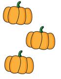 Pumpkin Cutouts - Great for Fall Bulletin Boards