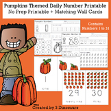 Pumpkin Daily Themed Number