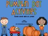 Pumpkin Day Activities: Pumpkin Themed Hands-On Activities