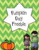 Pumpkin Day Freebie