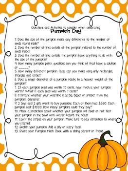 Pumpkin Day Ideas