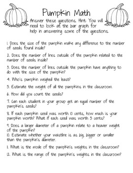 Pumpkin Day Investigation {11 pages}