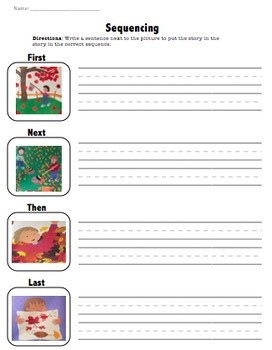 Fall Leaves Fall by Zoe Hall Sequencing Worksheet