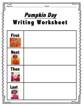 Pumpkin Day by Candice Ransom Sequencing Worksheet