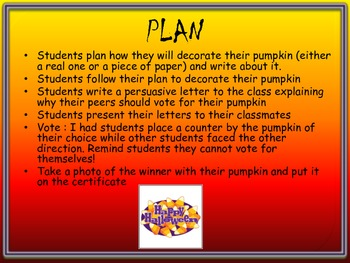 Pumpkin Decorating (Sequencing, Letter Writing)